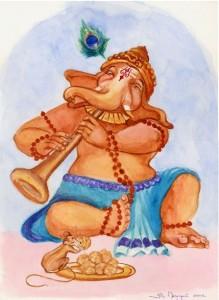 Ganesha_with_Flute